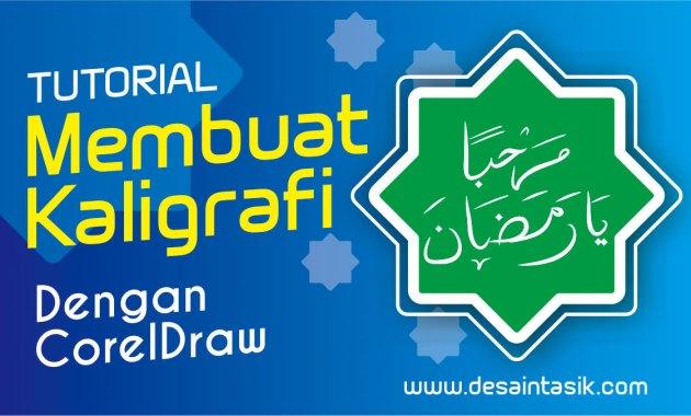 Membuat Kaligrafi Marhaban Ramadhan Manual dengan CorelDraw