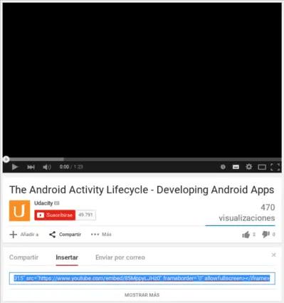 Insertar un Vídeo en Youtube