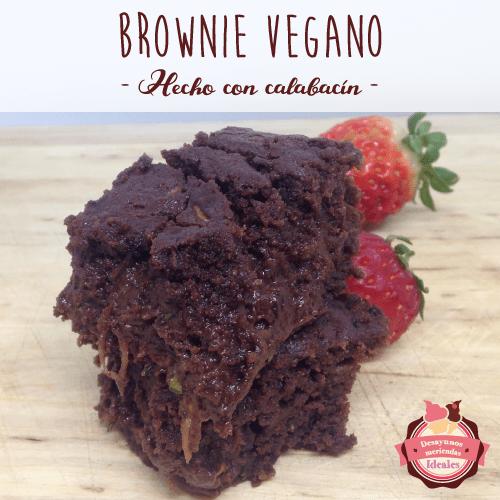 Brownie vegano, hecho con calabacín