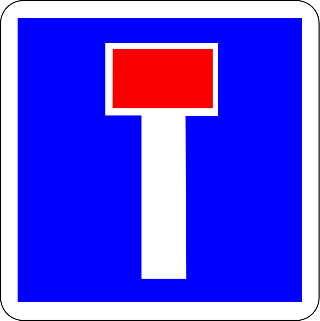 panneau carré bleu