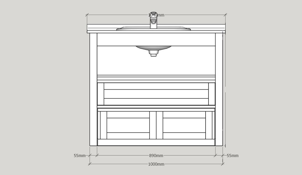 meuble sous vasque bois
