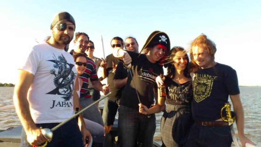 Barco tomado pelos piratas