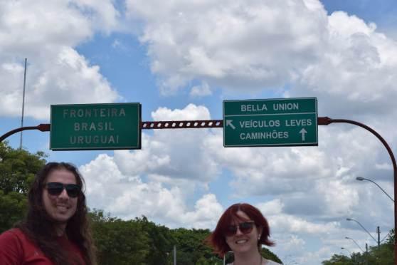 Chegamos a fronteira entre Brasil e Uruguai