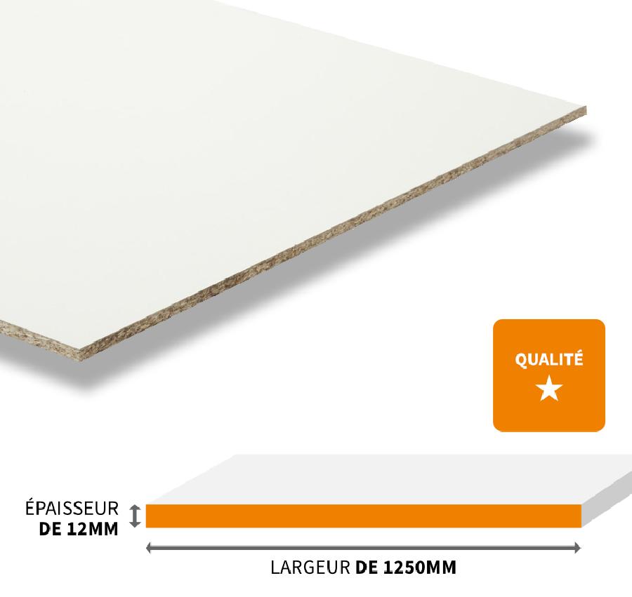 blanc de qualite standard 1250x12mm