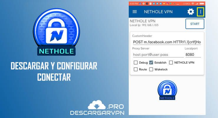 descargar nethole vpn apk gratis para android 2018
