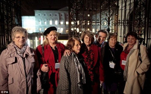 Magdalene Survivors Together leaving Leinster House in Dublin