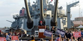 Battleship Iowa trusted veterans group that hosted Donald Trump ...