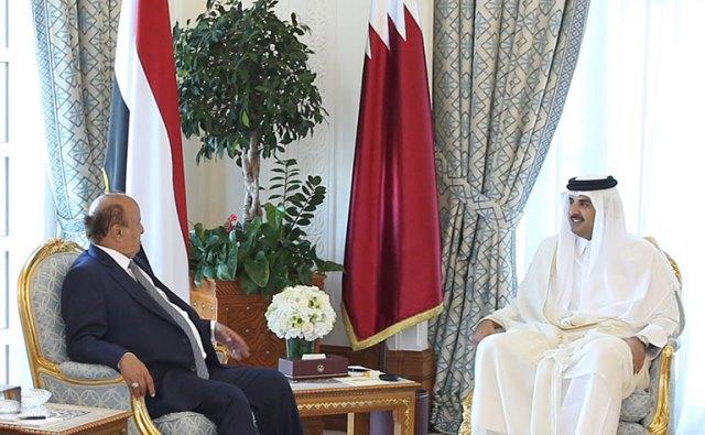 Qatar Emir & Yemen President Meets