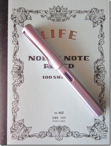 Lamy Al Star parme et carnet Life Noble Note