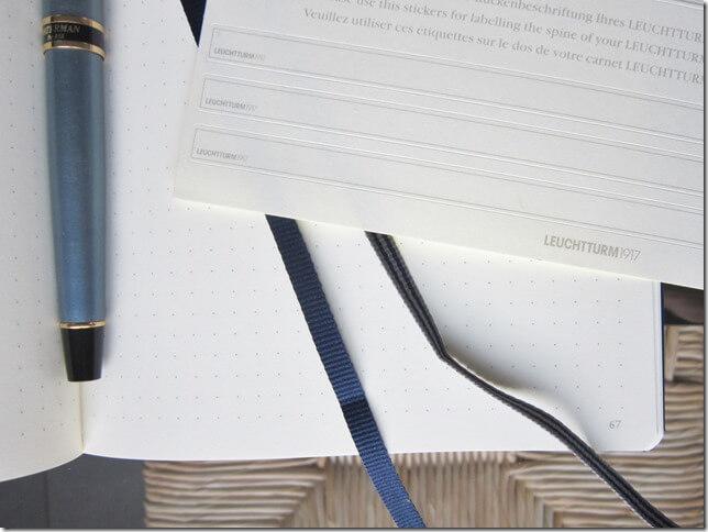 Carnet A5 Leuchtturm 1917 bleu marine pour un bullet journal