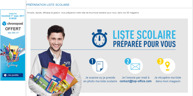 Listes scolaires Top Office