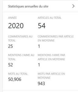 bilan blogging 2020