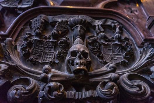 Detalhe de uma parede da Catedral de Santo Estêvão