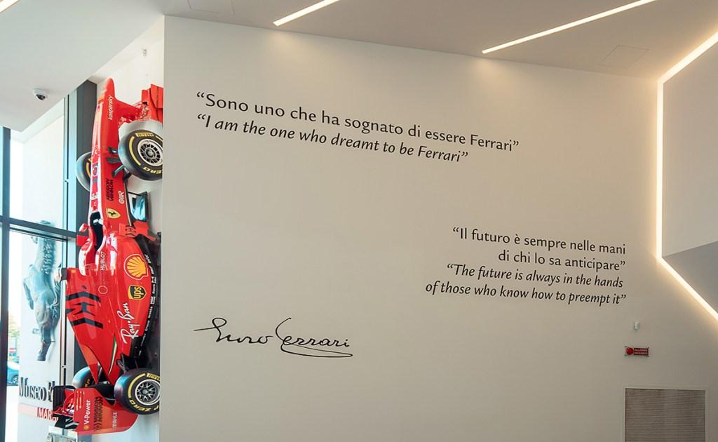 O Museu Ferrari em Maranello