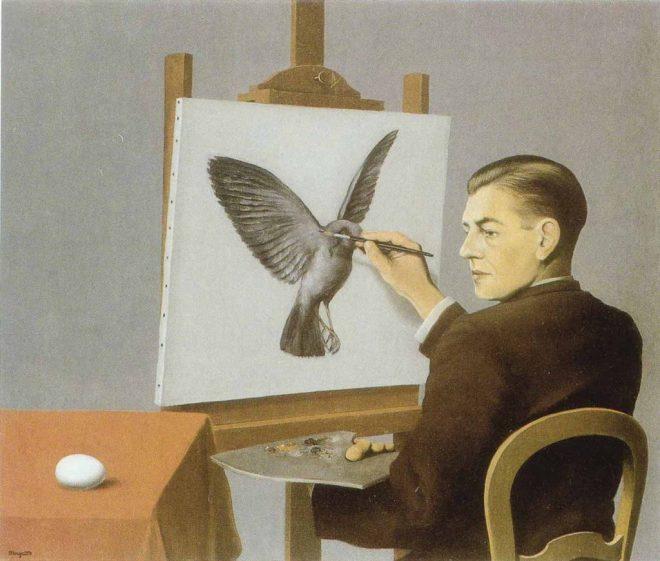La clarivedencia, de René Magritte, 1936, óleo sobre lienzo.