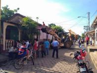 Derrumbe vivienda De Margarita Núñez