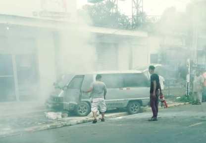 fuego en microbus