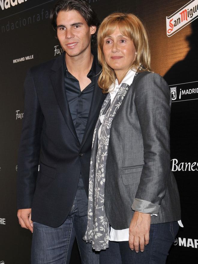 El tenista Rafa Nadal, muy cercano a su madre Ana María Parera