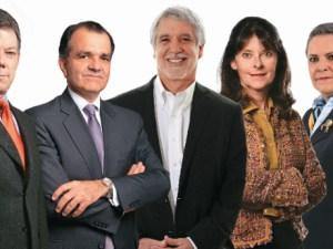 Composición candidatos aspirantes a la presidencia- Colombia