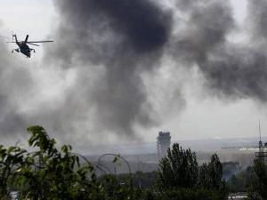 Bombardeos y ataques sobre Donetsk