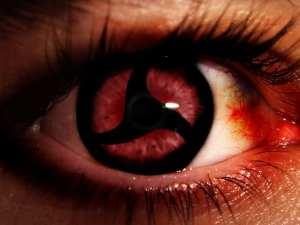Iris ocular refleja figura