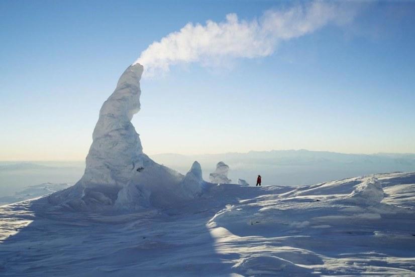 chimeneas de nieve