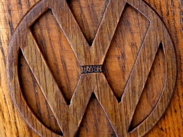 Detalle del tablero e interior del Escarabajo de madera. Foto: Infobae