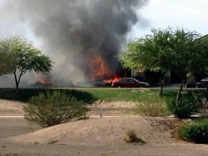 Accidente aéreo avión militar en California