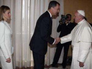 Los reyes de España se reunieron con el papa