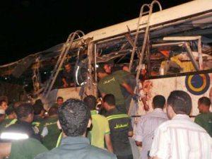 Autobus Egipcio accidentado