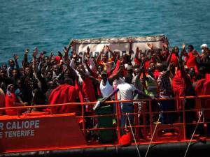 Balseros africanos rescatados