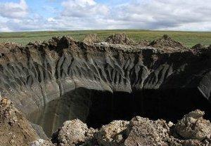 Cráter en Rusia es consecuencia del calentamiento del planeta