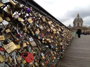 Puente de Las Artes - París - Candados del amor