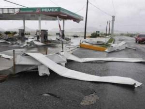 Huracán Polo en las costas mexicanas