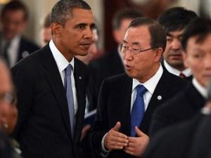 Obama y Ban Ki-Moon en cumbre del clima
