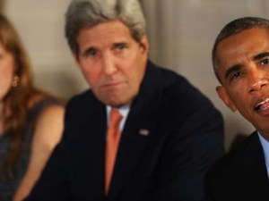 John Kerry y Barak Obama con líders de 5 países árabes