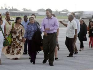 Vicitimas conflicto Colombia llegando a La Habana