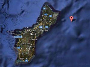 Mapa Isla de Guam Pacífico Occidental
