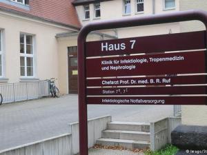 Entrada hospital Leipzig