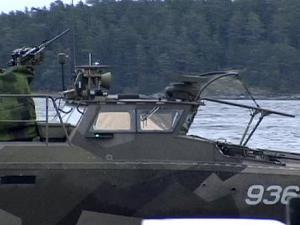 Patrullera sueca en las costas del archipiélago de Estocolmo