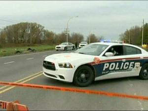 Patrulla de policía canadiense