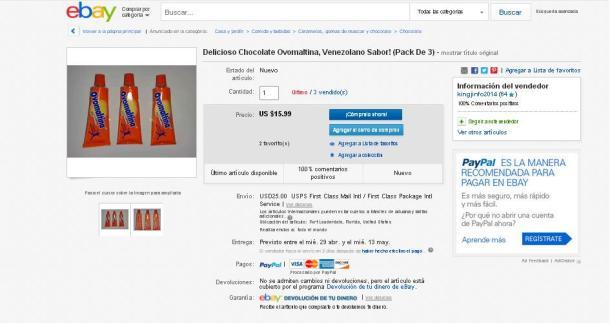 Ebay - Ovomaltina