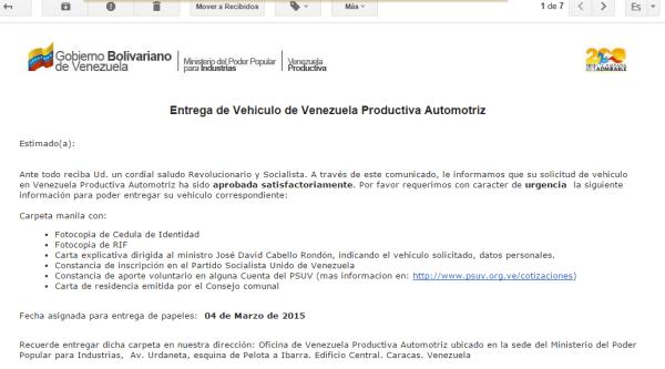 La página de Venezuela Productiva Automotriz fue hackeada a inicios de año