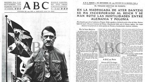 Así contó ABC la invasión de Polonia. Ejemplar del 2-9-1939