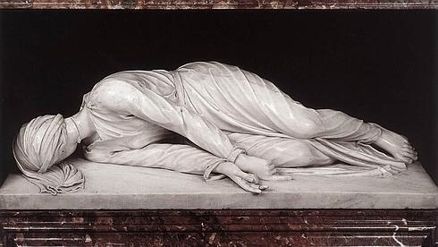 'El martirio de Santa Cecilia', de Stefano Maderno, en la iglesia de Santa Cecilia, en Roma