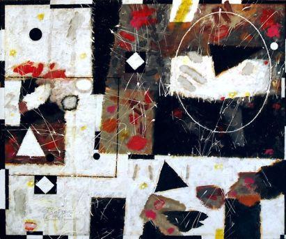 La hoja y el cristal. 2010. Acrílico sobre lienzo.