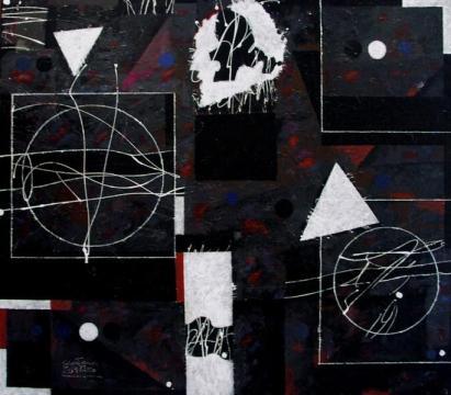 Teoría del alfil. 2008. Acrílico sobre lienzo.