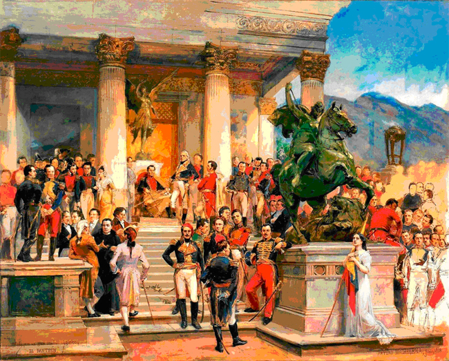 """""""El Panteón de los Héroes"""". Arturo Michelena. (1898)"""