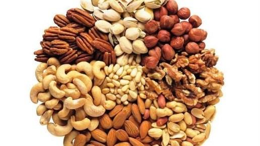 Frutos secos-nueces-almendras-avellanas
