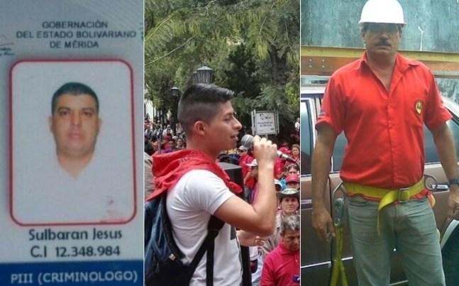 tres asesinados en Merida y barinas